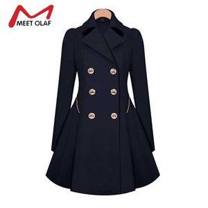 Wholesale- Especially Female Coat 2017 Women Spring Autumn Double-Breasted Long Trench Coat Overcoat Raincoat Windbreaker Coats YL646