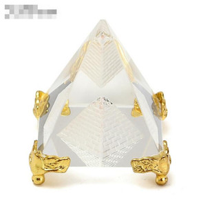 Fashion Energy Healing Small Feng Shui Egypt Egyptian Crystal Clear Pyramid Ornament Home Decor Living Room Decoration