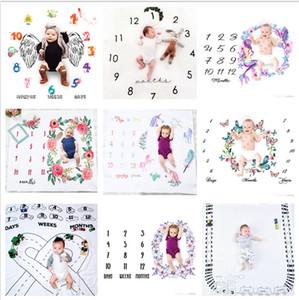 29 tipos de mantas de hitos de bebé recién nacido accesorios de fondo de fotografía fondos de foto de bebé mantas de flores de letras infantiles BHBZ12