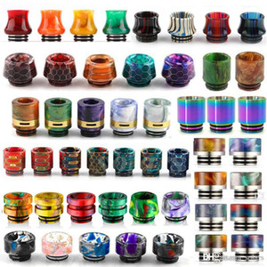 13 Tipos 810 Hilo Resina Punta de goteo Panal Piel de serpiente Cobra Vape Rainbow Boquilla para TFV12 Prince TFV8 Big Baby Tanks 528 RDA