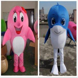 2018 высокое качество океана животных костюм талисмана с два цвета морских животных Дельфин талисманы взрослых размер Рождественский фестиваль партия костюмы