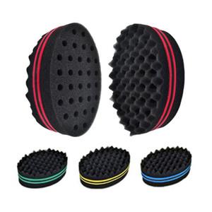 cabelo torção mágico da escova esponja Afro Curly Weave Oval dupla face plana Grande Buraco ondulado pequeno buraco Dreads pincel de esponja