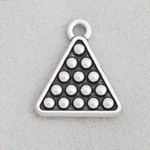 Charms Charms Hot placcati argento antico tavolo da biliardo in lega Sport all'aperto pendente di tabella per collane e bracciali 16 * 19mm 50pcs AAC509
