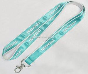 Großhandel 1000 teile / los Top Qualität Benutzerdefinierte Logo Umhängeband für schlüssel ID Karte Handygurte satin lanyards