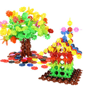 Wholesale snowflake Building Blocks toys Children assembling Christmas tree house building block Suitable for boys and girls