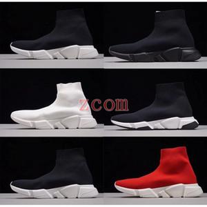 2018 Triple S Sneaker Speed Calcetines Zapatillas de running Marca Fashion Luxury Designer Womens Zapatillas de deporte Hombre Zapatillas Casual de alta calidad 36-45