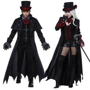 Cosplay Halloween traje adulto homens mulheres casal vampiro masquerade traje do diabo traje traje do diabo zombie fantasma