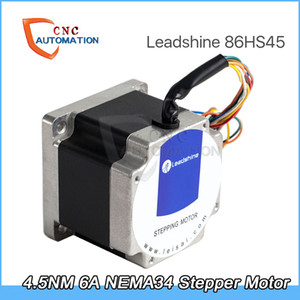 4.5NM Leadshine 2 de fase del motor de pasos 86HS45 para Nema34 6A longitud de 80 mm del eje de 12,7 mm