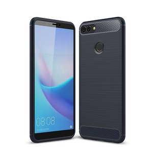 Custodie rigide in acrilico robusto TPU da 1,5 mm per Huawei Enjoy 7 Plus Holly 4 Plus Y9 2018 Godetevi cover posteriore in fibra di carbonio siliconata 8 Plus