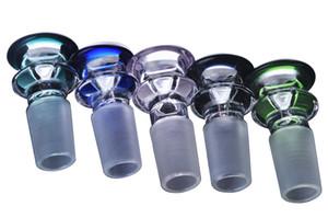Un grupo de 10 piezas Grueso lindo Muchos colores 14 mm Glass Banger Bowl 19mm Tazón gor Vidrio Bongs de agua Cachimbas Shisha