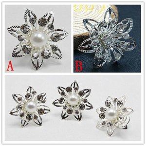 Imitado perla de cristal de la boda pernos de pelo nupcial torsiones bobinas flor remolino espiral horquillas joyería moda al por mayor