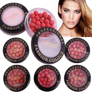 Farres Face Contouring Make-up Rouge Ball Wasserdichte Bronzer-Make-up-Pigmente Moisture Natural Coral Red Blush Palette