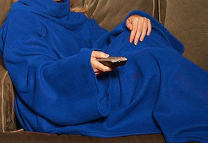 Soft Warm Fleece Snuggie Couverture Manteau Manteau Avec Manches Confortables Wearable Sleeve Blanket Portable Lazy Couverture 5 Couleurs