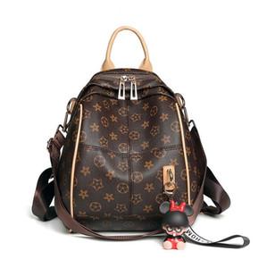 Высокое качество дамы печати рюкзак 2018 новый дизайнер классический мода многоцелевой мягкая кожа рюкзак дорожная сумка бесплатная доставка