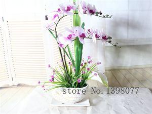 Искусственная Орхидея Расположение Поддельные Цветок Реальный Сенсорный Украшения Дома Набор Цветов Цветок Только Не Ваза Новый