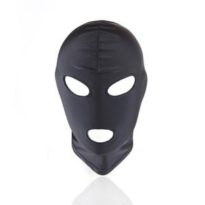 Máscara de látex de cuero PU sexy Capucha Máscara 4 tyles transpirable tocado fetiche BDSM adulto para fiesta