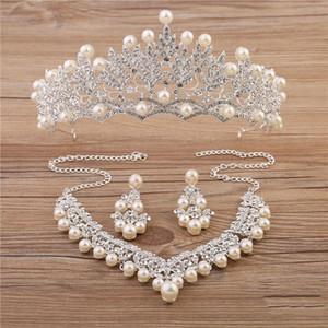Sparkle Wedding Accessories Sets Silver Plated African Beads Cheap Crown Bling Accesorios de novia en línea 2018 Cappelli Da Sposa