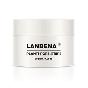 Nuevo estilo LANBENA Blackhead Remover Nose Mask Pore Strip Máscara negra Peeling Negro Limpieza profunda Cuidado de la piel 30g