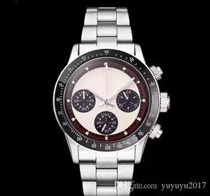 2018 роскошные наручные часы мужские часы хронограф старинные Perpetual Paul Newman японский кварц нержавеющая сталь мужские часы