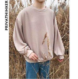 Privathinker 2018 Hoodie Primavera Men Oversized camisola mulheres coreanas Baggy Hoodies moda masculina capuz Harajuku Moletons