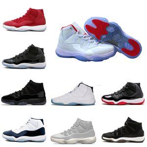 Homme Chaussures de basket-ball sneaker 11 11s casquette et robe Midnight Navy low Navy Gum Space Jam blackout hommes sneakers de sport livraison gratuite