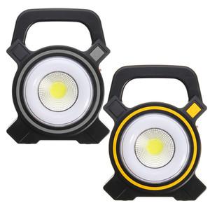 أضواء تعمل بالطاقة الشمسية USB المحمولة 30W LED الكاشف الفوانيس البوليفيين بقعة قابلة للشحن الصمام ضوء الفيضانات في الهواء الطلق بقعة العمل مصباح 2400Lm