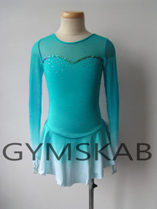 2018 Elegant Figure Skating Dress Women's Girl's Customized Ice Skating Dress Long-sleeved Gymnastics Costume 6366
