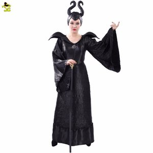 Adult's Witch Maleficent Costumi Sexy Nero Halloween Fatto Maleficent Vestito Cosplay Maleficent Fancy Dress Outfit Costume C18111601
