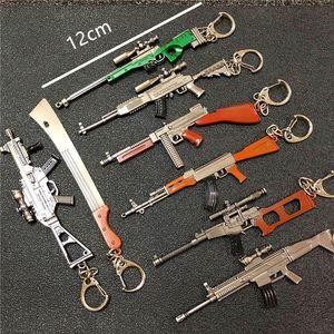 12см PUBG 7.62мм оружейная винтовка АКМ модель брелки АК 47 игрушки пистолет брелки llaveros chaveiro sleutelhanger брелок для ключей