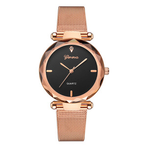2020 Fashion Womens Geneva Watches with Milanese strap Quartz Movement Mesh Watch Band Fashion Watches for Lady