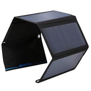 Buheshu dobrável 28 w carregador de painel solar saco dual usb carregador solar para iphone / telefone inteligente painel solar de alta eficiência