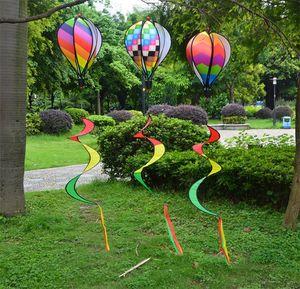 레인보우 뜨거운 공기 풍선 스팽글 색 줄무늬 가든 스쿨 장식 크리 에이 티브 풍선 컬러 Spinner와 리본 8 5bj jj