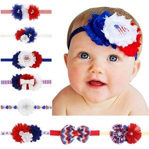 Fascia per capelli con strass per bambini National Day USA con fiore di sole Accessori per capelli per bambina con fascia per bambini Festa dell'indipendenza