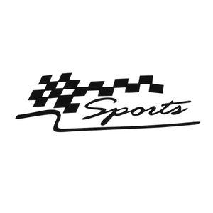 1 Unids Decal Racing Sports Flag Set Pegatinas de Coche Auto Motocicleta Reflectante Vinilo Sticker Car Styling