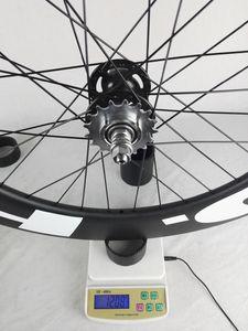 Envío libre !! hed carbón rueda 88m m tubulares carril bici rueda del carbón 700C 23m m ancho de vía Fixed Gear Bike