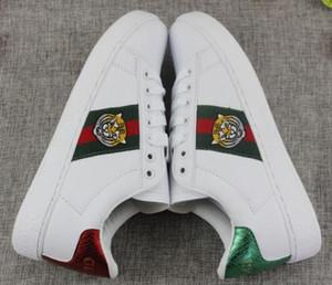 Новый стиль кроссовки мокасины вышивка маленькая пчела тигр голова Змея повседневная плоская обувь унисекс Сапатос тренеры 36-44