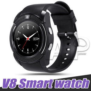 V8 Smart Watch Sport Smartwatch с 0,3 м SIM-дисплея Camera IPS HD для системы Android