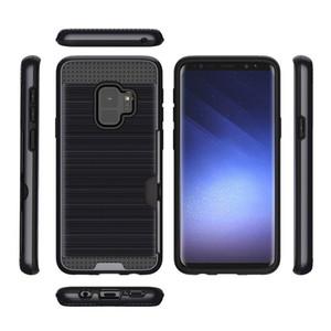 الحالات الهاتف فتحة بطاقة الائتمان درع ل LG V30 V30 زائد V30S ThinQ V35 TPU + PC 2 في 1 غطاء سليم للصدمات حالة A