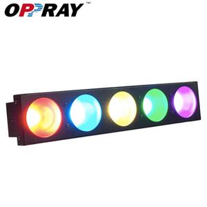 4 adet / grup Yüksek Kaliteli Blinder Etkisi Işıkları 5x10 W 3in1 RGB LED Sahne Işık Matrix DJ Disko Bar Aydınlatma için DMX512 Yıkama