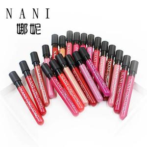 Impermeable Durable Maquillaje antiadherente del labio taza de larga duración 38 colores colores completos NANI Lip Gloss DHL freeshipping