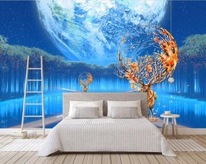 Personalizado Wallpaper Photo Wallpaper criativa 3D Pintura Moderna Moda Sala Quarto Hotel TV Desktop Wallpaper