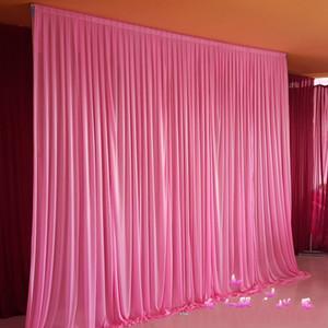 Herhangi bir renk için 3 m*3 m backdrop Parti perde Festivali kutlama düğün sahne performansı arka plan örtü örtü duvar valane backcloth