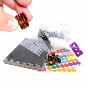 144pcs 1/4 dram 1ml bottiglie di olio essenziale piccole fiale di vetro ambrato del campione con coperchi tappo tappo orifizio, doTERRA etichette incluse