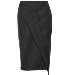 new  ol long pencil skirtscasual Female ladies Classic striped commuter asymmetric skirt women