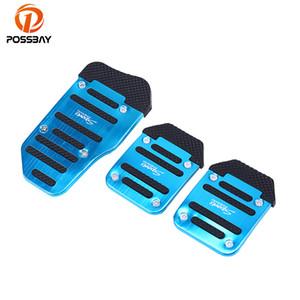 por mayor Reposapiés Pedales de aluminio universal de cambios manual antideslizante de la cubierta del pedal del coche pedal de ratón Accesorios para automóviles
