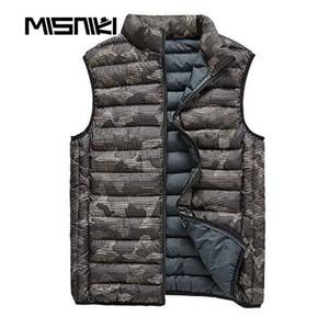 MISNIKI caliente otoño invierno chaleco hombres camuflaje ocasional delgado sin mangas para hombre chaleco cálido abrigo
