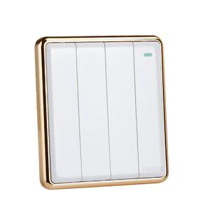 Interruptor de luz de color blanco e interruptor de pared 16A 4 gang 1 way / 2 way