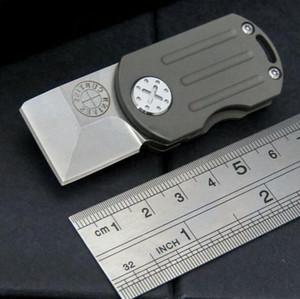 미니 keychiain 칼 지방산 M390 100 % 61HRC는 남자 1PCS를위한 선물 칼을 접는 키 체인 블레이드 티타늄 핸들 주머니 칼을 stonewashed