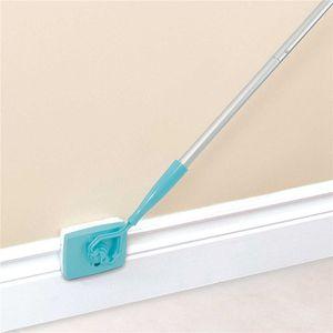 300pcs Nuovo Battiscopa Buddy Scalabile Microfibra per pulire la spazzola di pulizia Spazzola per pulire Mop Blu per manico in alluminio Utensili in alluminio
