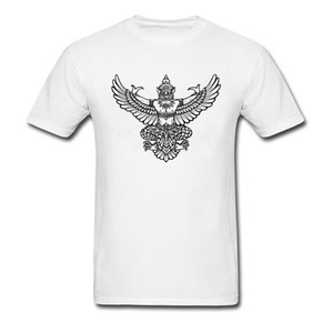 Garuda Logo Deisgn Muay Thai T-Shirt Men Cheaper Funny T Shirts Unique Cool Tee Shirts On Sale Not Loose Painting Tee Shirt